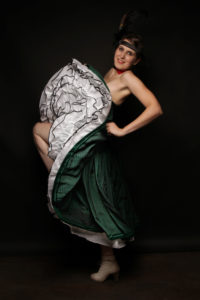 French-cancan-verte à corset-Atelier-la-Colombe-strasbourg